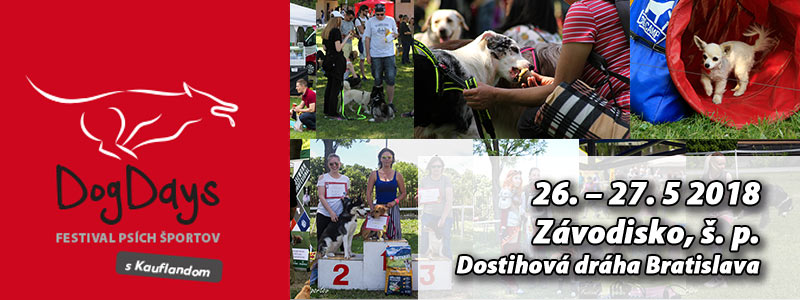 DogDays – festival psích športov | 26. – 27.5.2018
